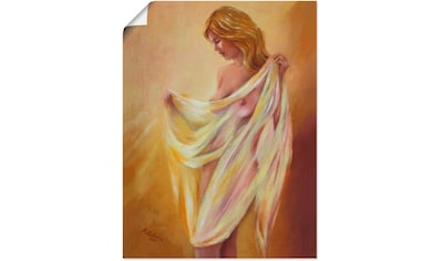 Artland Wandbild »Akt mit Tuch«, Frau, (1 St.), in vielen Größen & Produktarten -... kaufen