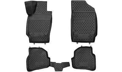 WALSER Passform-Fußmatten »XTR«, VW, Polo, Schrägheck, (4 St., 2 Vordermatten, 2... kaufen