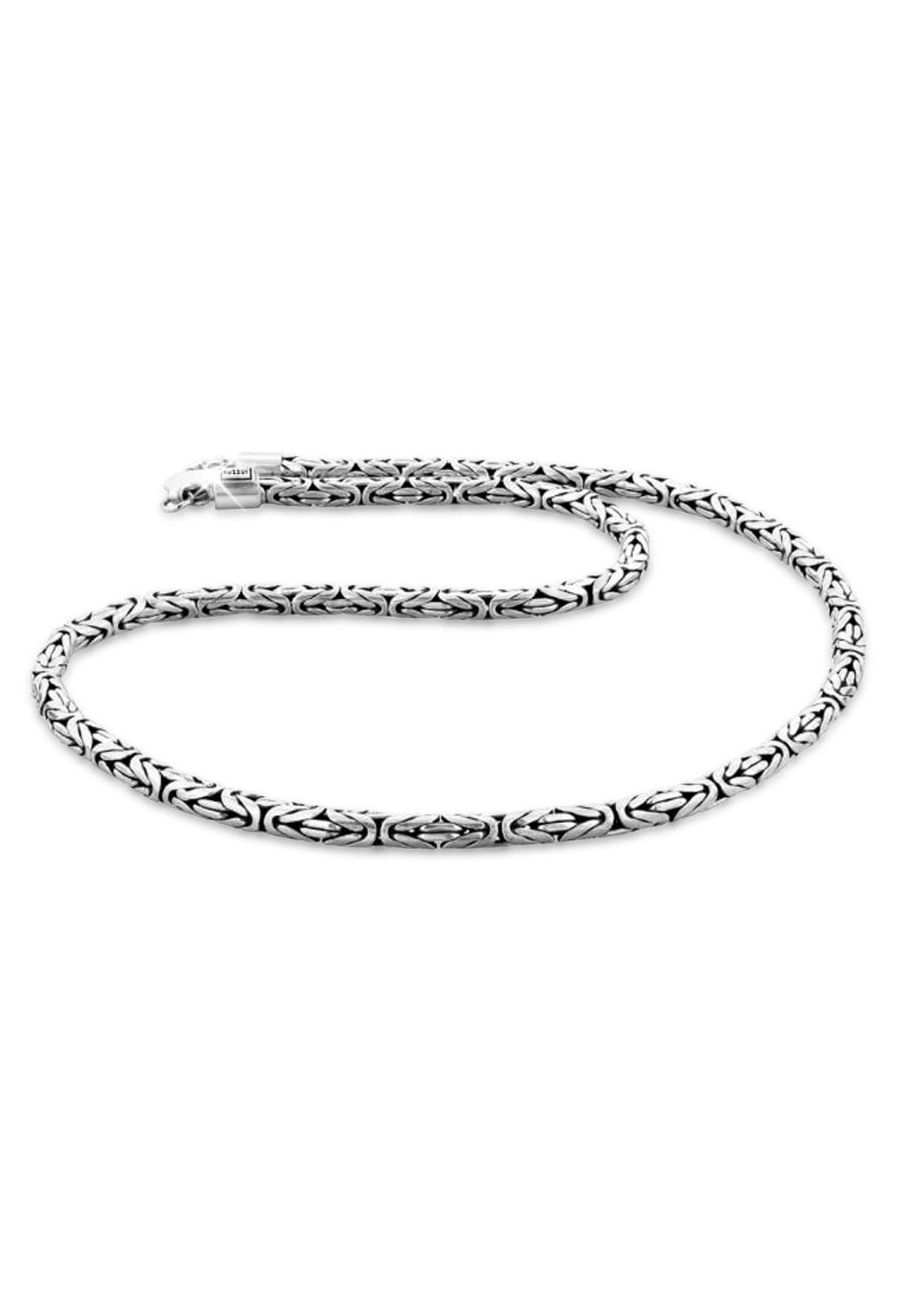 Kuzzoi Silberkette Herren Glieder Königskette Oxidiert 925 Silber | Schmuck | Kuzzoi