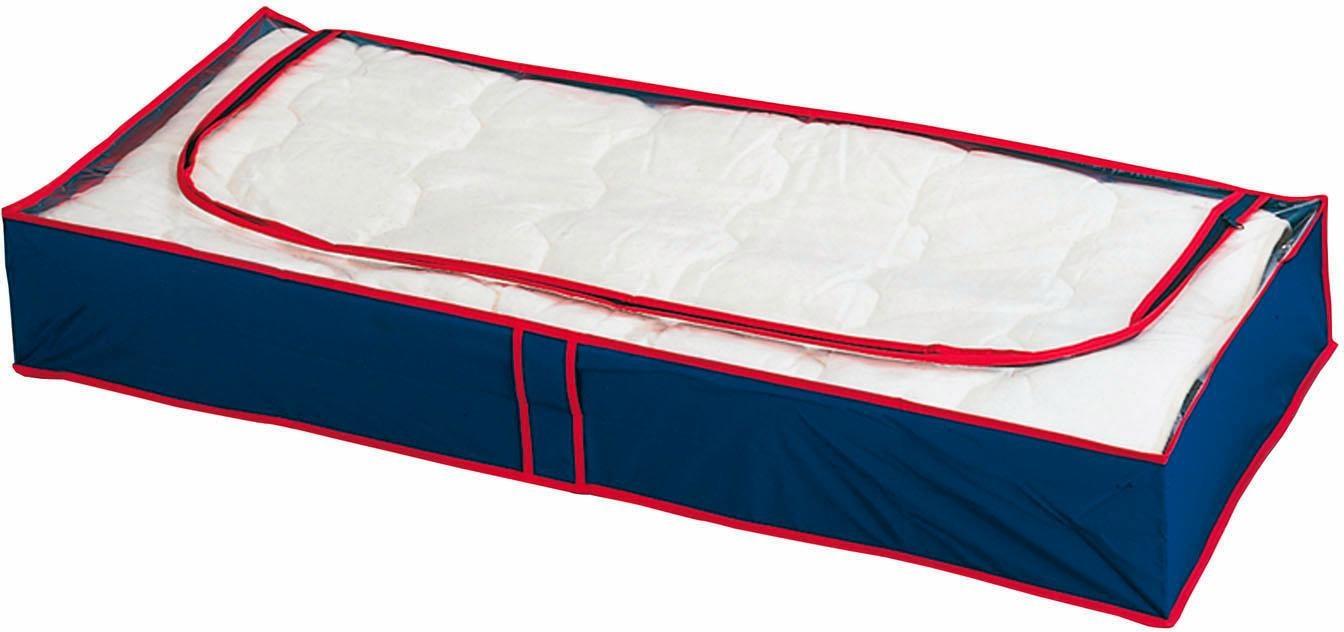 WENKO Unterbettkommode Blau-Rot, (Set, 8 St.), (atmungsaktiv) blau Aufbewahrung Ordnung SOFORT LIEFEERBAR Diele Flur Aufbewahrungsboxen