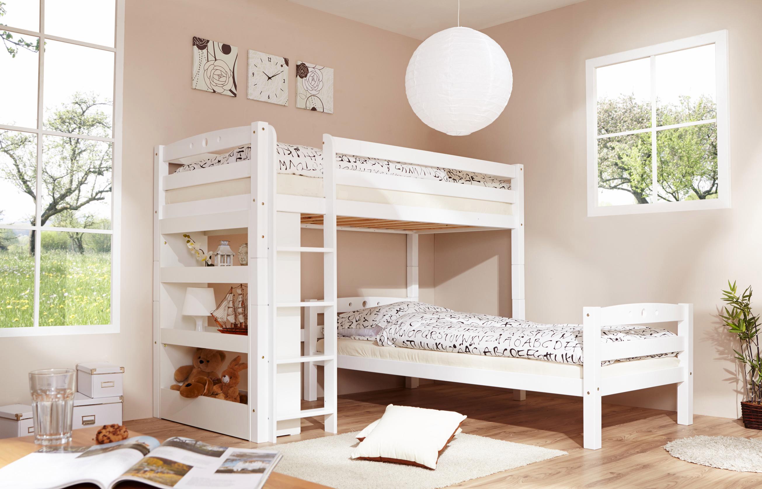 Etagenbett Tica : Ticaa einzel etagenbett buche »lupo« bestellen baur