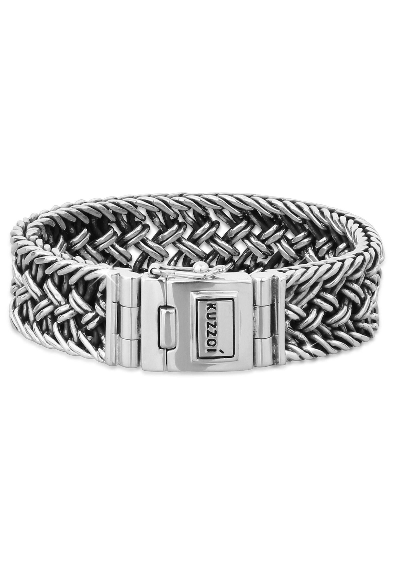 Kuzzoi Armband Herren Silber Maskulin Oberfläche oxidiert | Schmuck > Armbänder > Silberarmbänder | Kuzzoi