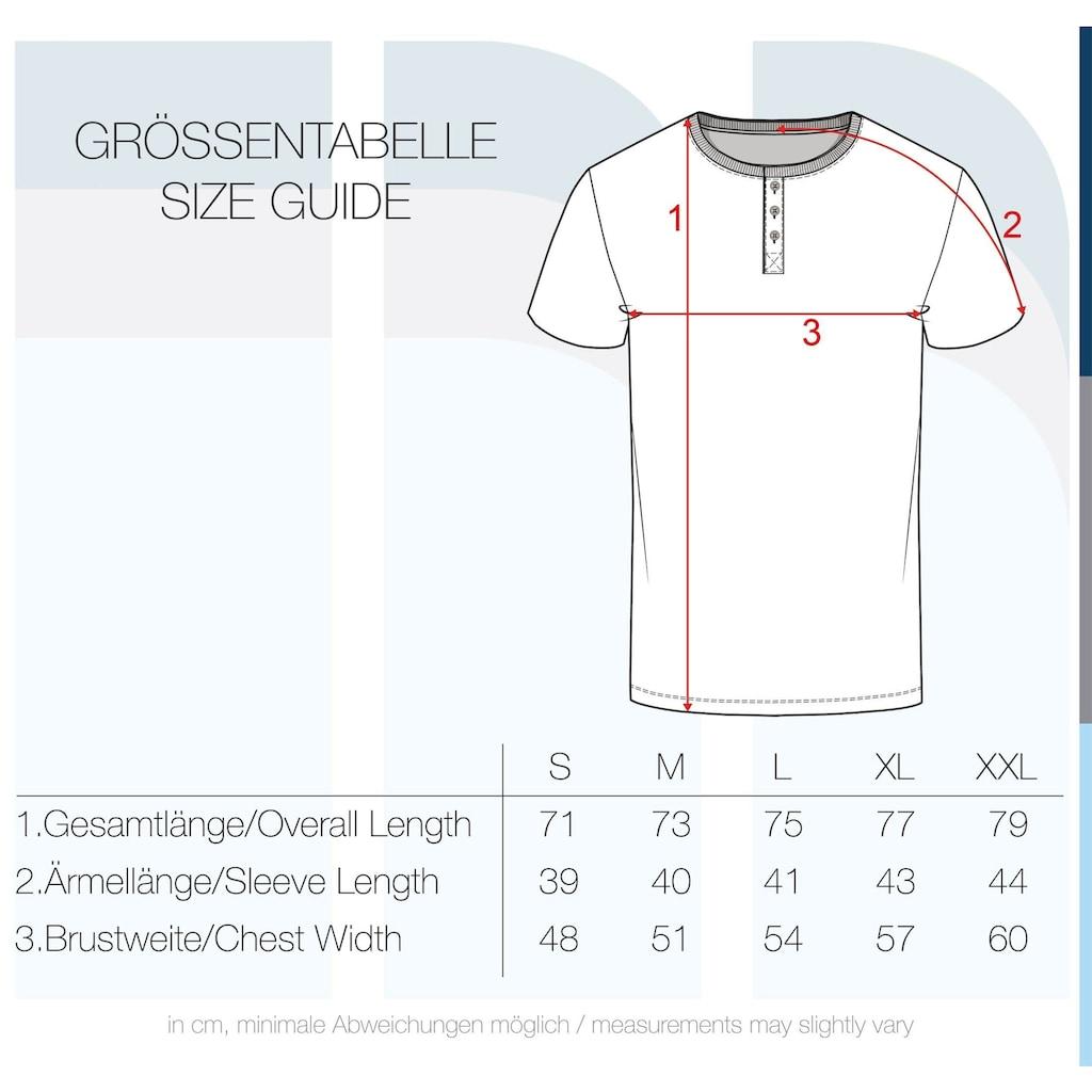 Indicode Rundhalsshirt »Albemarle«, Kurzarmshirt mit Streifen und Knopfleiste