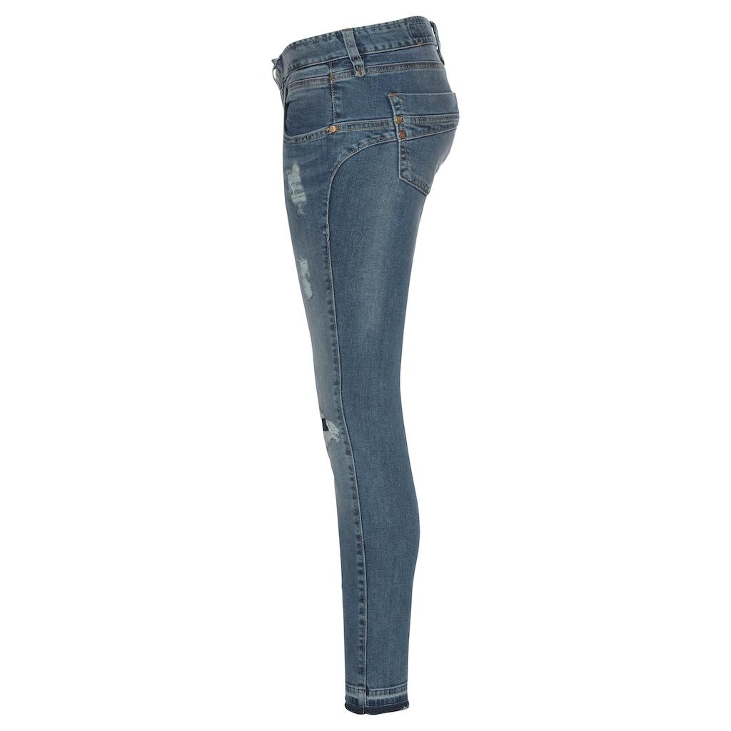 Herrlicher 7/8-Jeans »TOUCH CROPPED«, mit Cut Off Säumen und Destroyed Effekten
