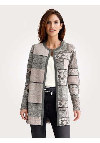 Mona Longshirtjacke in harmonischem Jacquard-Muster kaufen