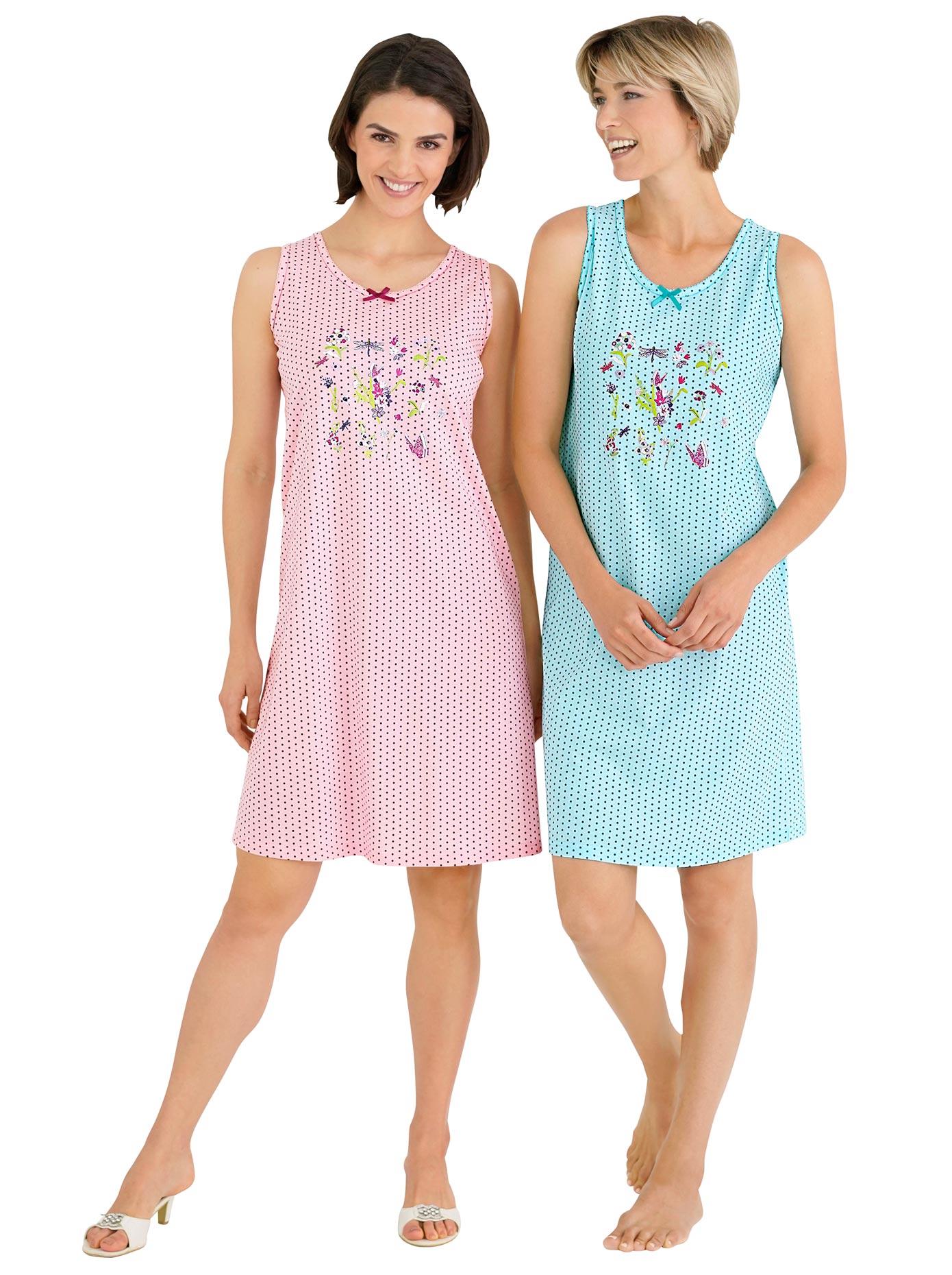 wäschepur Sleepshirts (2 Stck) | Bekleidung > Nachtwäsche > Sleepshirts | Blau | Wäschepur