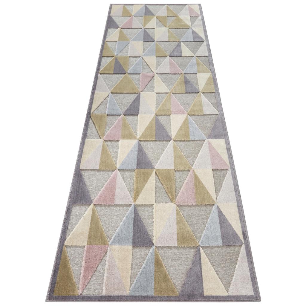 ELLE Decor Läufer »Creuse«, rechteckig, 8 mm Höhe, Hoch-Tief-Struktur