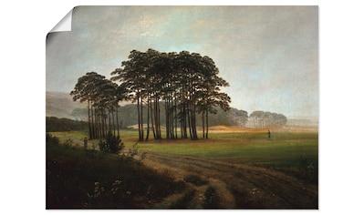 Artland Wandbild »Der Mittag, um 1822«, Wiesen & Bäume, (1 St.), in vielen Größen &... kaufen