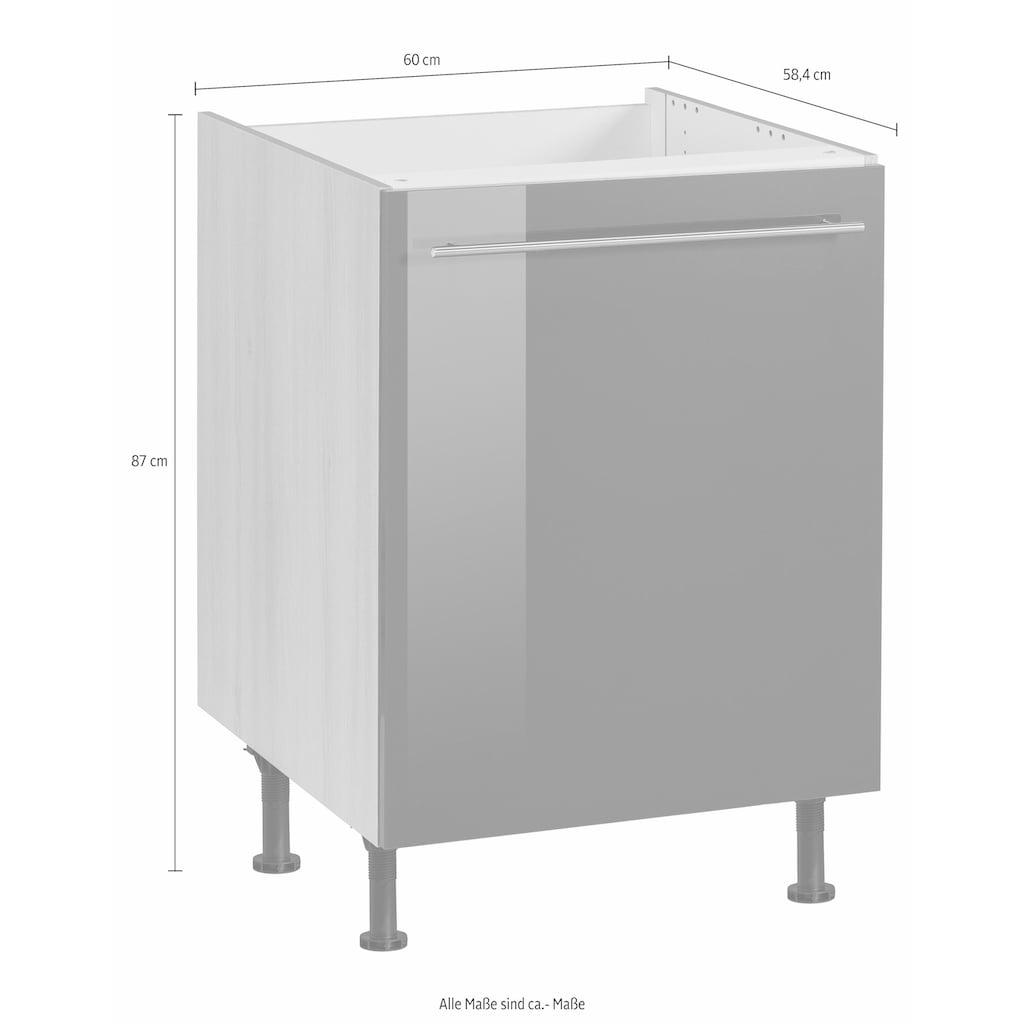OPTIFIT Spülenschrank »Bern«, 60 cm breit, mit 1 Tür, mit höhenverstellbaren Füßen, mit Metallgriff