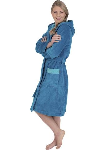 Wewo fashion Damenbademantel »4110«, (1 St., mit Gürtel), mit weicher Kapuze kaufen