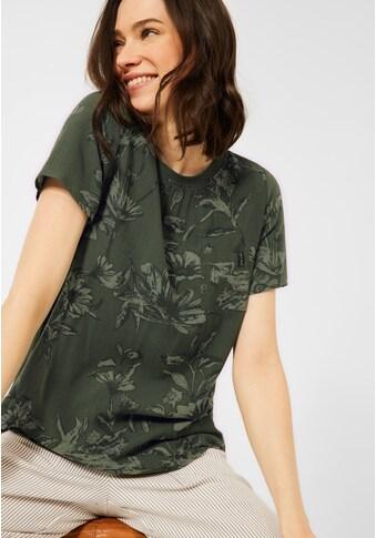 Cecil Rundhalsshirt, mit dekorativer Knopfleiste im Rücken kaufen