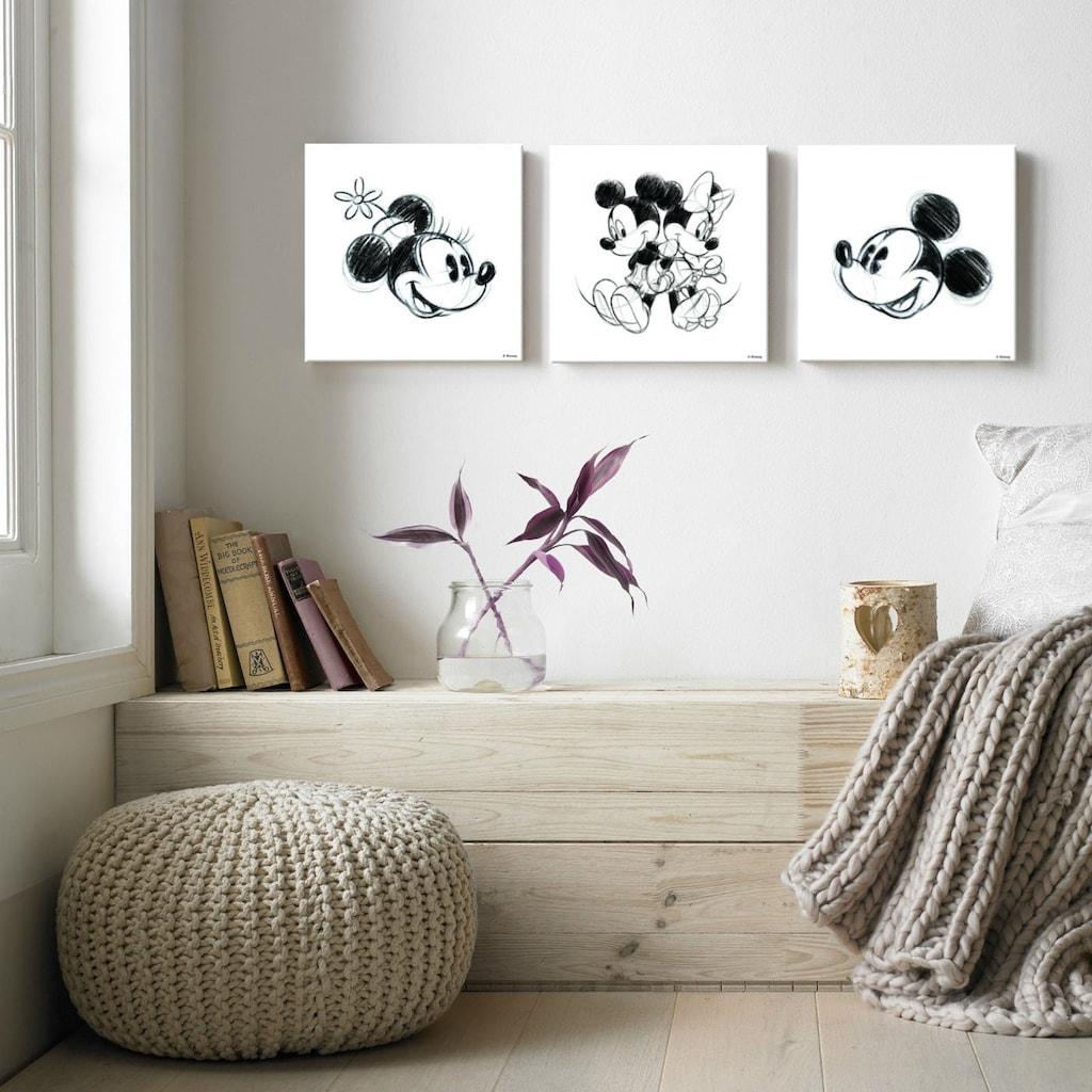Disney Mehrteilige Bilder »Mickey & Minnie«, (Set, 3 St.)
