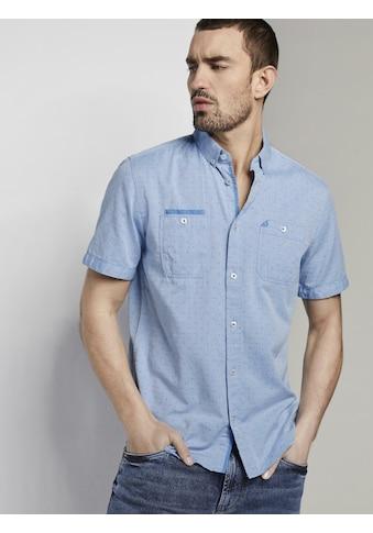 TOM TAILOR Kurzarmhemd »Gemustertes Kurzarmhemd mit Brusttaschen« kaufen