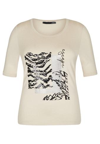 LeComte Paillettenshirt, mit Front-Print und Pailletten kaufen
