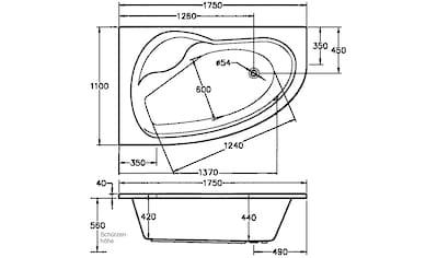 OTTOFOND Whirlpool-Badewanne »Loredana«, Typ Premium, chrom kaufen