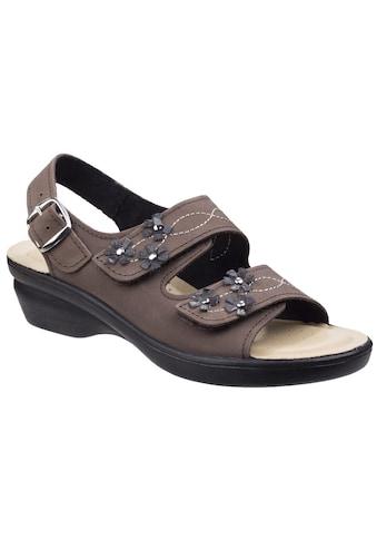 Fleet & Foster Sandale »Damen Leder -  Amaretto mit Klettverschluss« kaufen