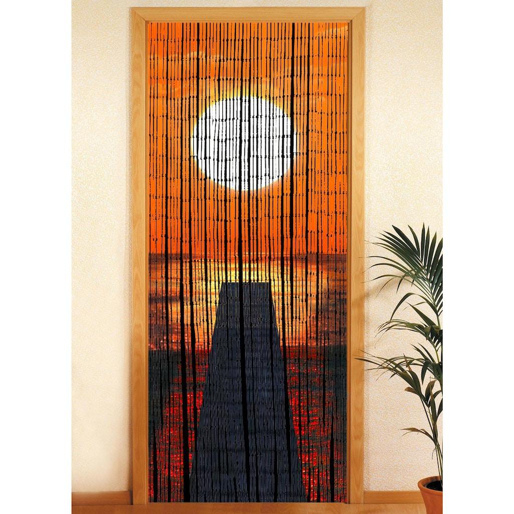 Türvorhang, »Sonnenuntergang«, WENKO, Hakenaufhängung 1 Stück