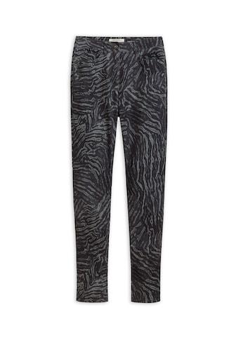 Sandwich High-waist-Jeans, mit Animal-Print kaufen