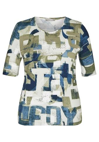 Rabe T-Shirt, mit abstraktem Allover-Print und Glitzernieten kaufen