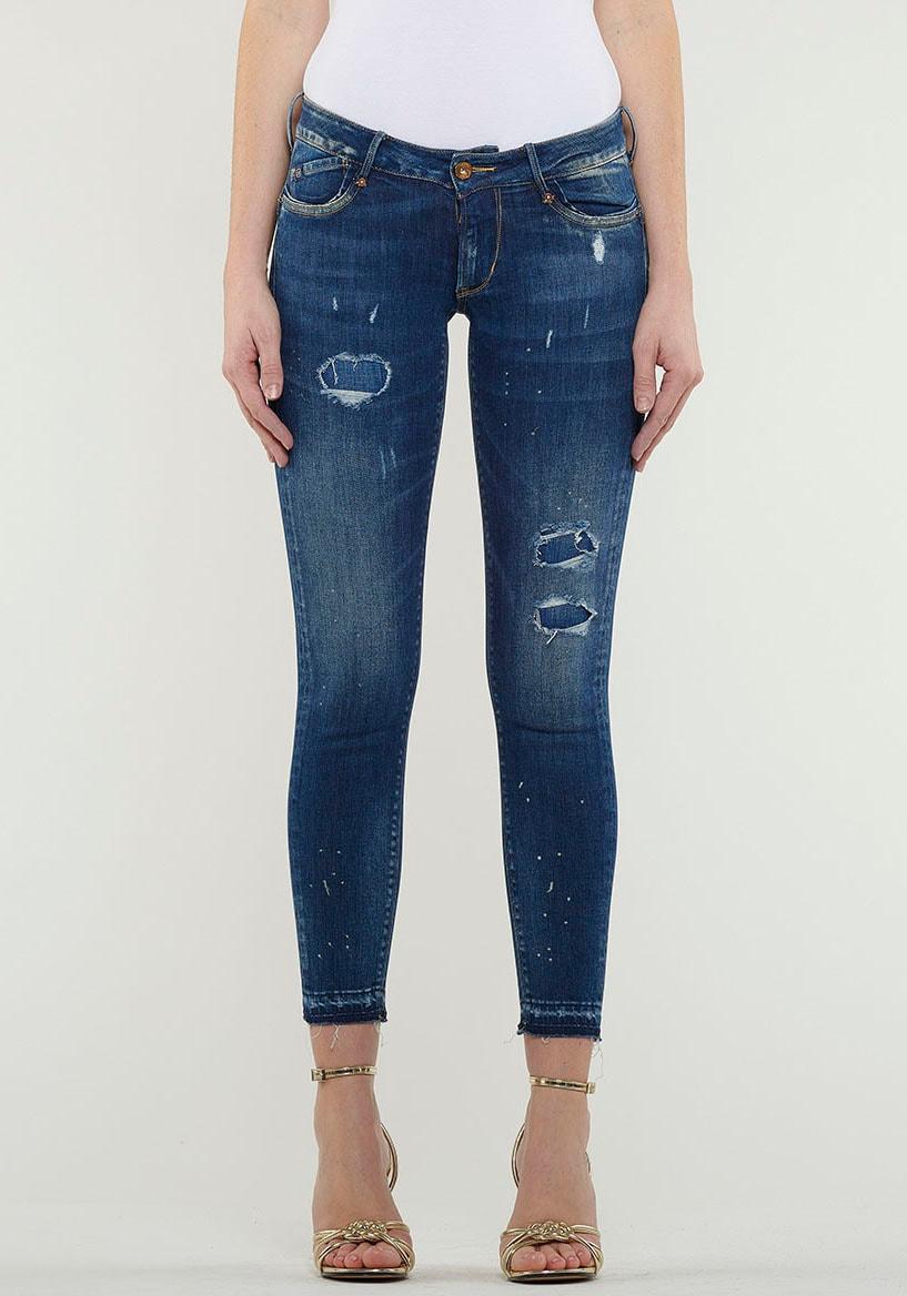 le temps des cerises -  Ankle-Jeans MYRI, mit coolen Destroyed Effekten