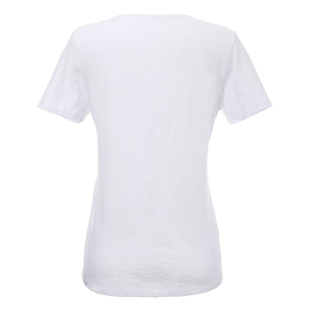 Hammerschmid Trachtenshirt, mit Knopfverschluss am Ausschnitt