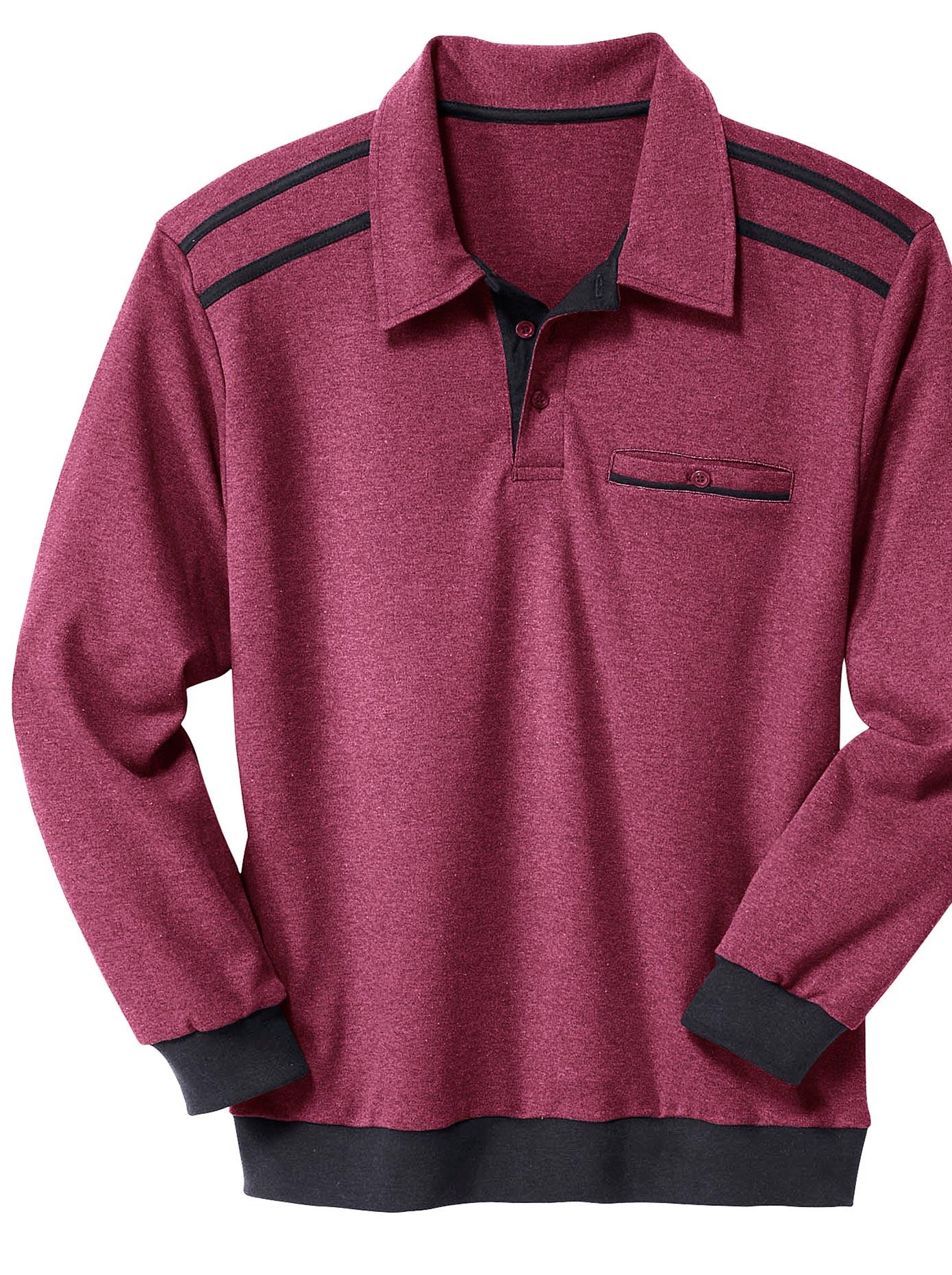 Classic Basics Sweatshirt mit Knopfverschluss | Bekleidung > Sweatshirts & -jacken > Sweatshirts | Classic