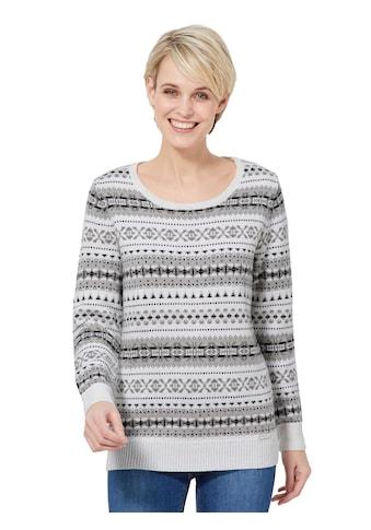 Casual Looks Pullover mit traditionellem Strickmuster kaufen