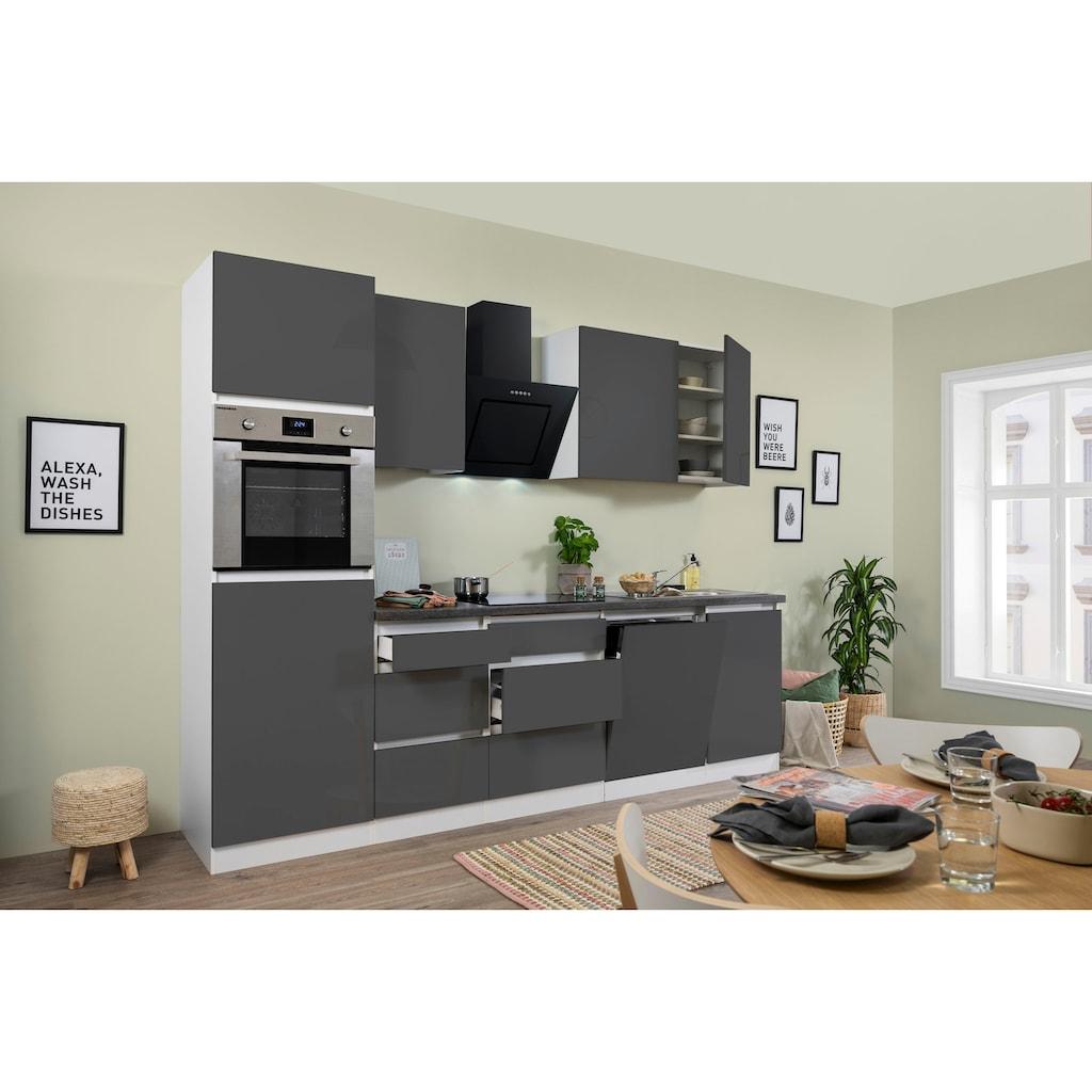 RESPEKTA Küchenzeile »Boston«, mit E-Geräten, Breite 280 cm
