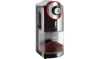 Melitta Kaffeemühle Molino 1019 - 01 schwarz - rot, Scheibenmahlwerk kaufen