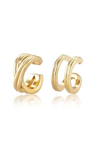 Elli Paar Ohrhaken »Basic Set Earcuff Klemme Minimal Geo 925 Silber« kaufen