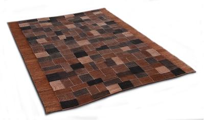 DIE HAUSKUNST Teppich »Niyoncondon«, rechteckig, 4 mm Höhe, Flachgewebe, handgewebt, mit Fransen, Wohnzimmer kaufen