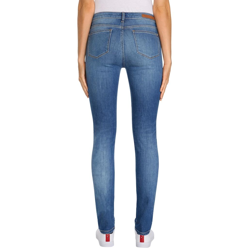 TOMMY HILFIGER Slim-fit-Jeans »HERITAGE VENICE SLIM RW«, mit Fadeouit-Effekten & Tommy Hilfiger Logo-Badge