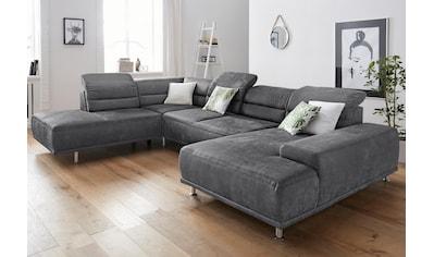 sit&more Wohnlandschaft, mit Federkern, inklusive Kopfteil- und Sitztiefenverstellung kaufen