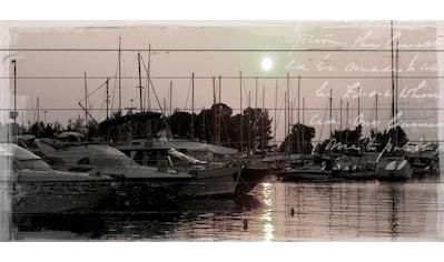 queence Holzbild »Boote im Hafen« kaufen