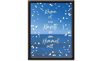 Artland Wandbild »Regen ist nur Konfetti«, Sprüche & Texte, (1 St.) kaufen