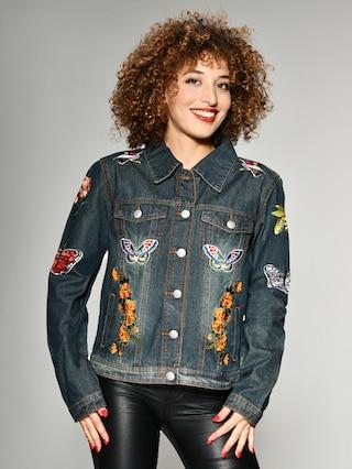 baur maze jeans jacke damen