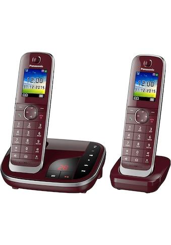 Panasonic Schnurloses DECT-Telefon »KX-TGJ322«, (Mobilteile: 2 ), mit Anrufbeantworter, Weckfunktion, Freisprechen kaufen