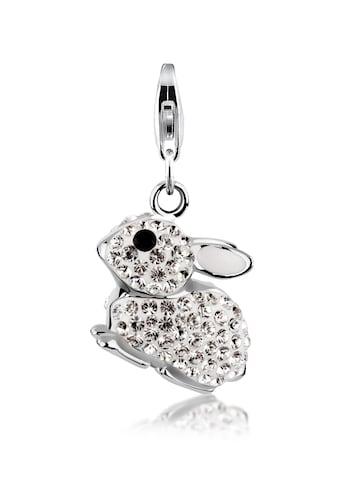Nenalina Charm - Einhänger »Anhänger Hase Swarovski® Kristalle 925 Silber« kaufen