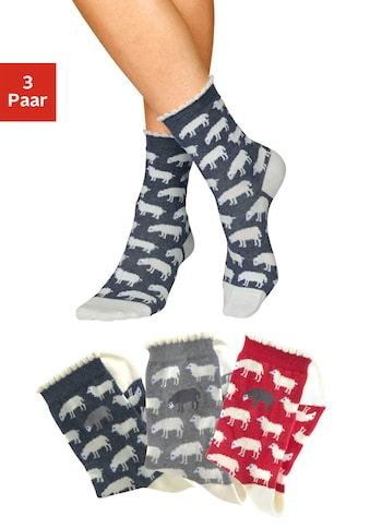 Sympatico Socken, (3 Paar), mit feinem Muschelabschluss kaufen