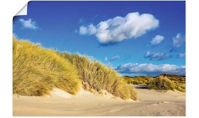 Artland Wandbild »Landschaft mit Dünen Insel Amrum«, Strandbilder, (1 St.), in vielen... kaufen