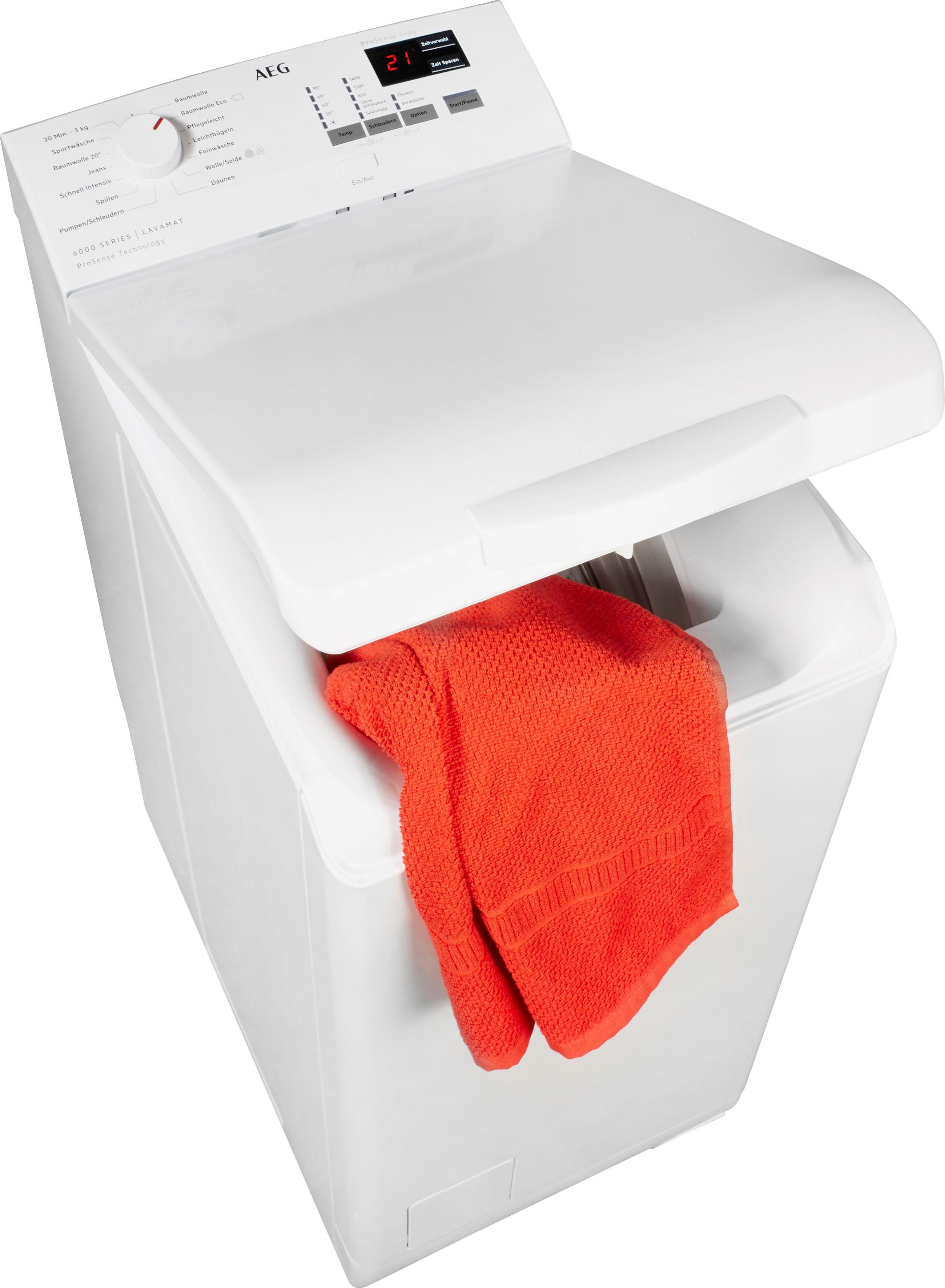 AEG Waschmaschine Toplader L6TB40460 | Bad > Waschmaschinen und Trockner > Toplader | Weiß | Aeg Electrolux