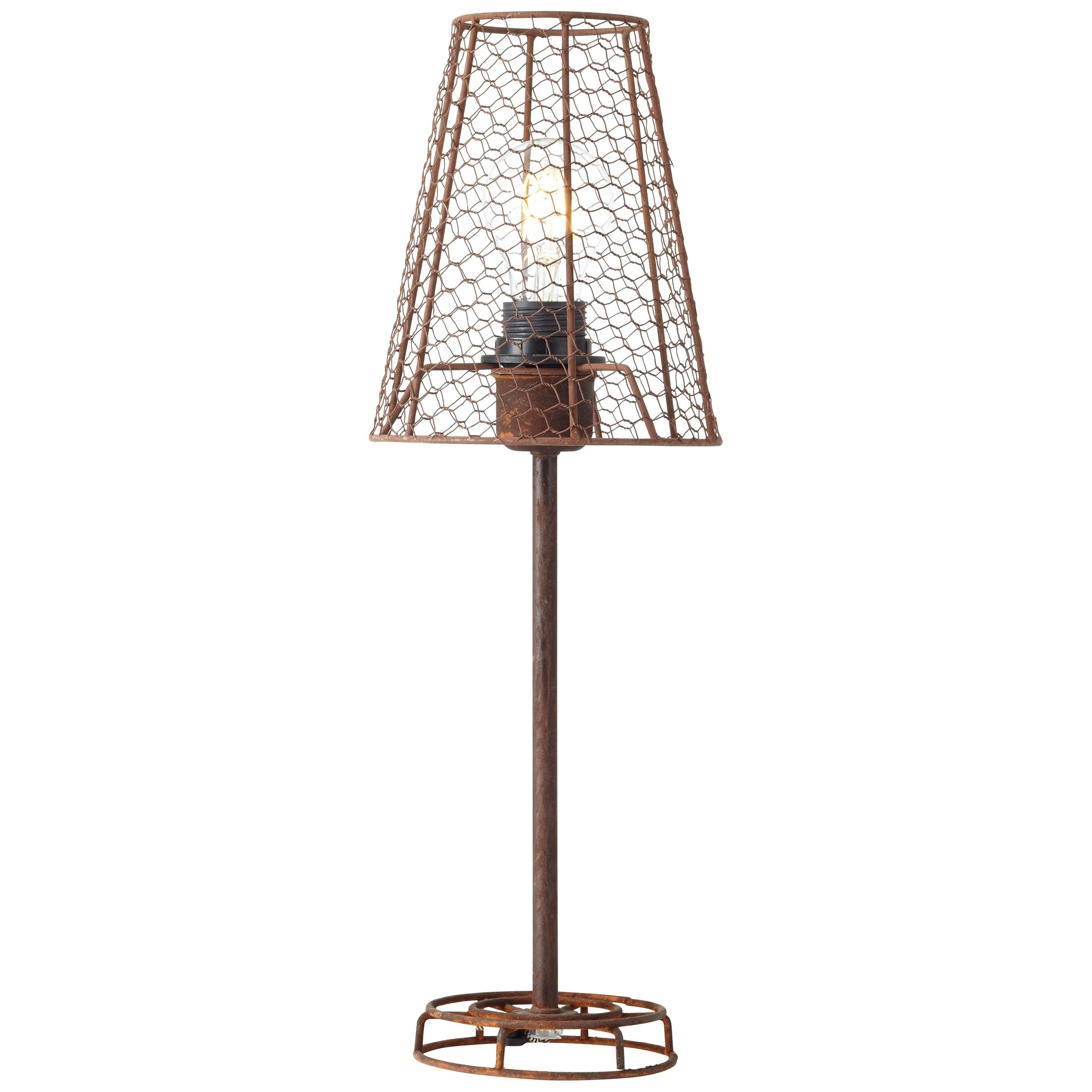 Brilliant Leuchten Anger Tischleuchte schwarz-rost-braun/gewischt | Lampen > Tischleuchten > Beistelltischlampen | Schwarz | Metall | BRILLIANT LEUCHTEN