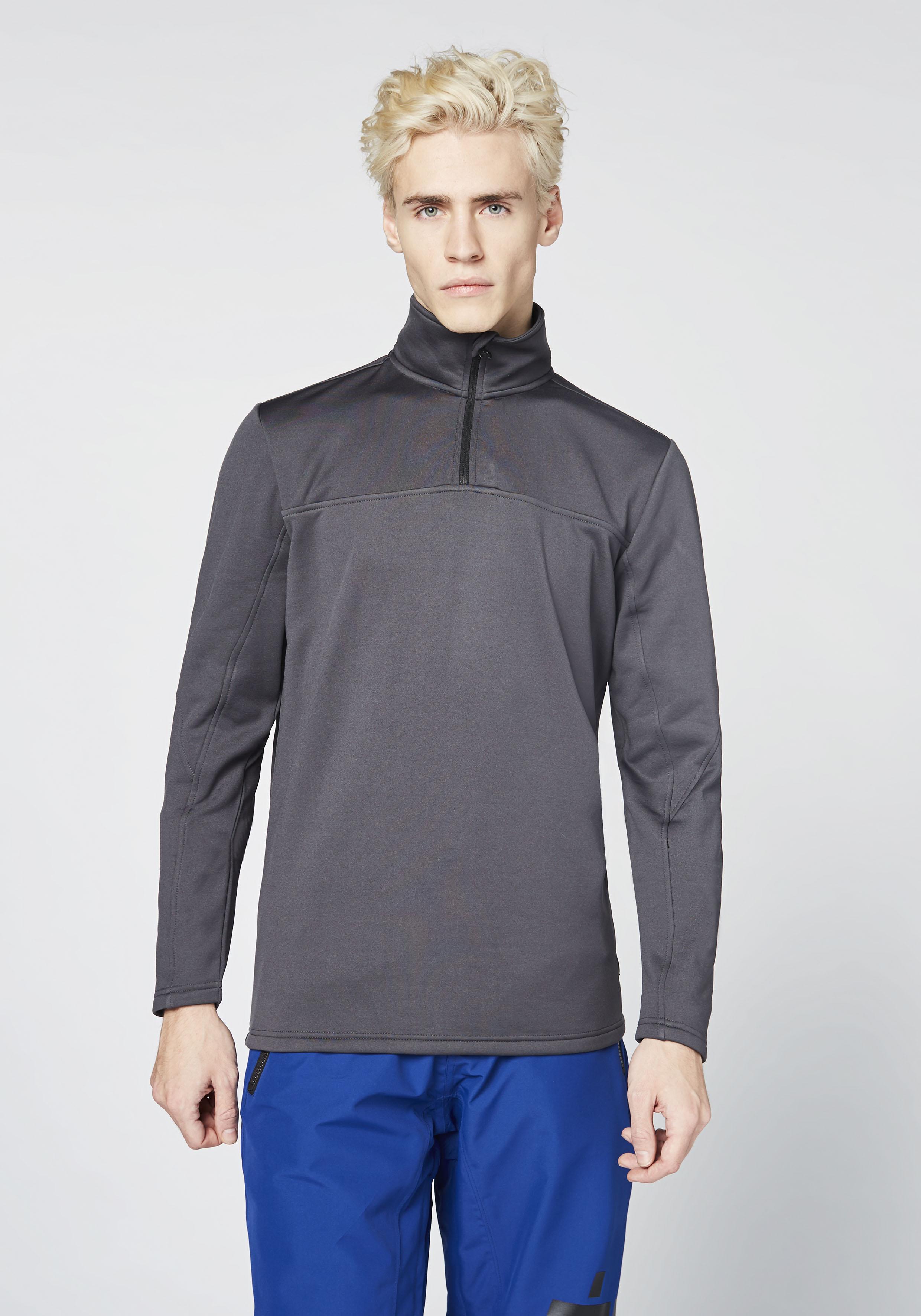 Chiemsee Strickfleece-Pullover Sweatshirt für Herren | Sportbekleidung > Fleecepullover | Grau | Fleece | Chiemsee