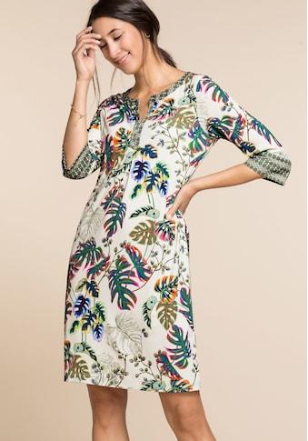 bianca Jerseykleid »DANILO«, mit 3/4-Arm, Mustermix und dekorativem Ausschnitt kaufen