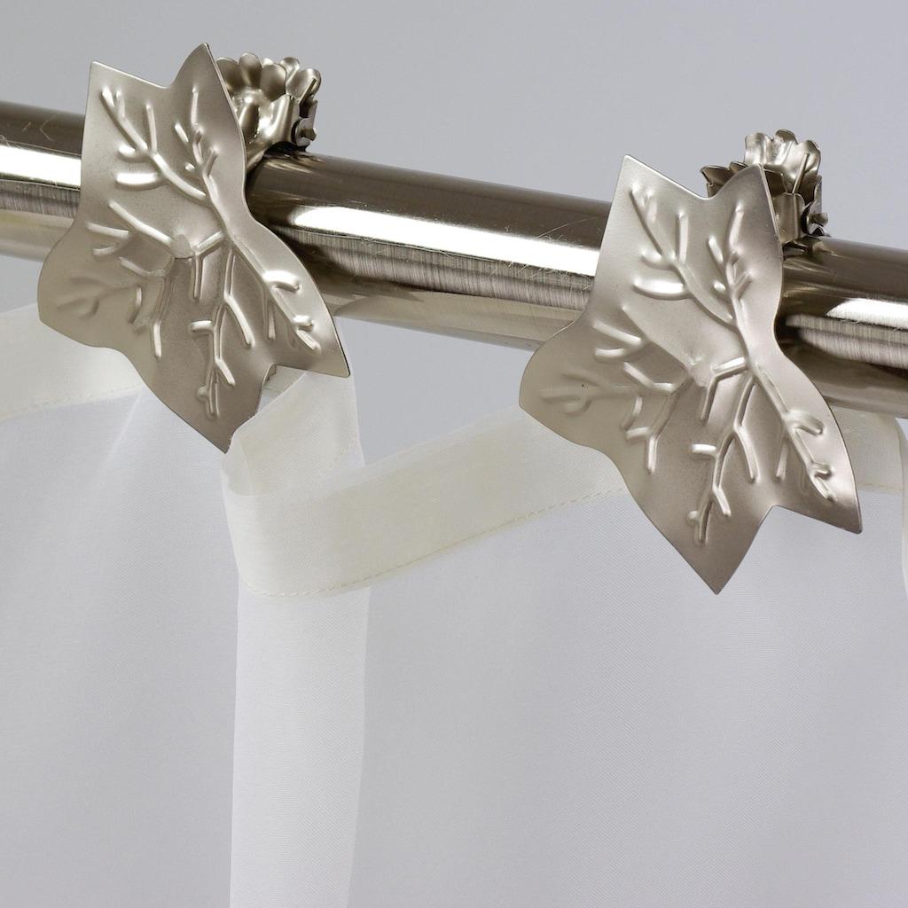 Liedeco Dekoklammer »Blatt«, (Packung, 2 St.), für Gardinen, Vorhänge