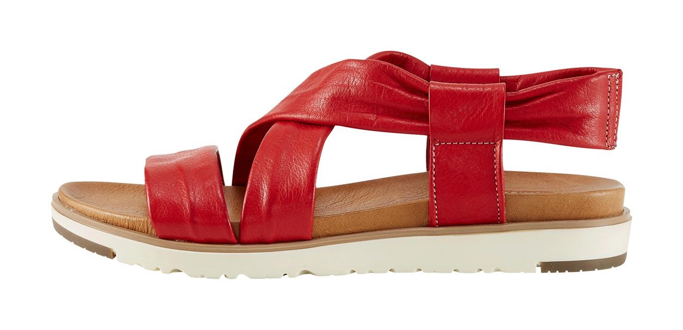 Sandalette rot Damen Sandaletten Sandalen