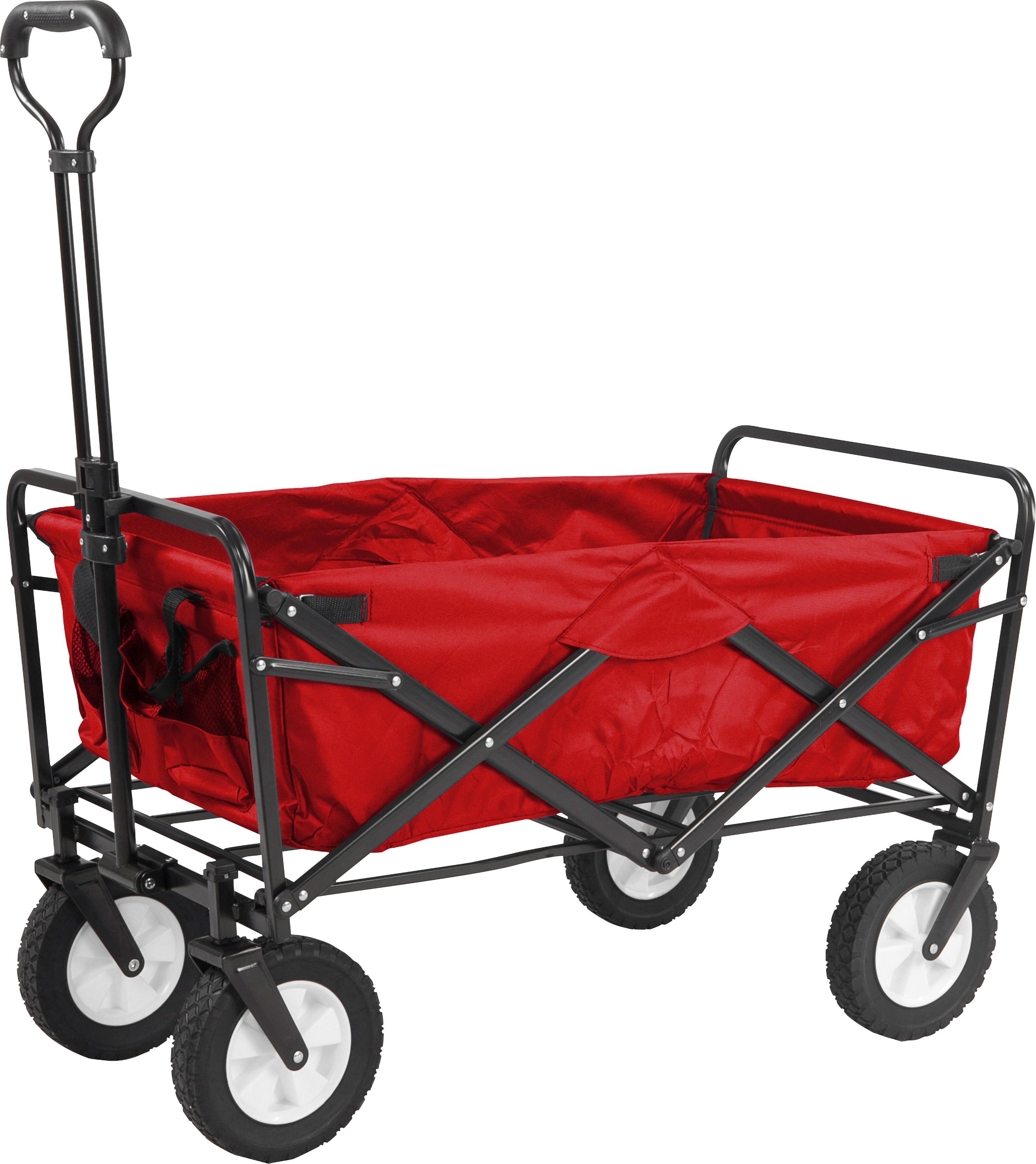 meister Bollerwagen, 85 x 45 76-101,5 cm, faltbar rot Kinder Bollerwagen Kinderfahrzeuge