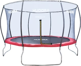 hudora gartentrampolin fantastic trampolin 400v 400cm set mit sicherheitsnetz auf. Black Bedroom Furniture Sets. Home Design Ideas