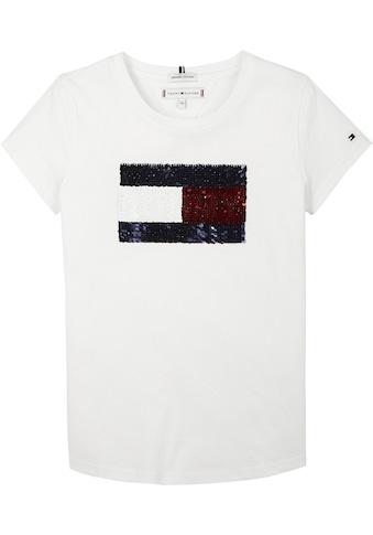 TOMMY HILFIGER Kurzarmshirt »FLAG FLIP SEQUINS« kaufen