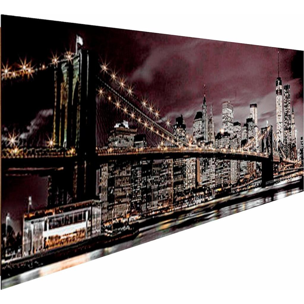 Reinders! Deco-Panel »New York bei Nacht«, 156/52 cm